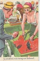Carrière - Louis : Pin-up : Je Prends Tout, Mais Servez -moi Lentement .....N° 1418 - Photochrom - Carrière, Louis