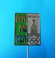 OLYMPIC GAMES 1980. Moscow - Yugoslav Old Pin * Olympics Jeux Olympiques Olympia Juegos Olímpicos Olimpiadi Russia NOC - Olympic Games
