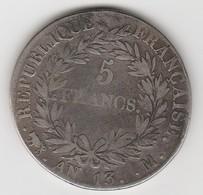 5 FRANCS AN 13 M    EN ARGENT  - 020 - J. 5 Francs