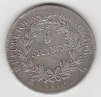 5 FRANCS 1807 L    EN ARGENT  - 021 - J. 5 Francs