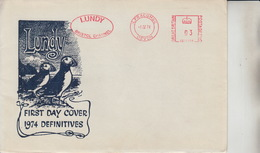 #15A Great Britain Lundy Puffin FDC Puffin Bust Definitives 1974 FREE UK P+P. !SALE HALF PRICE! - Local Issues