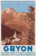 @@@ MAGNET - Gryon - Vallée Du Rhôhne - Ligne Du Simplon - Alpes Vaudoises - Publicitaires