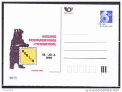Entier Postal Tchèque Neuf 1999 BERLIN Ours - Entiers Postaux