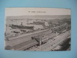 CPA Alger - La Gare Et Le Port - Algérie