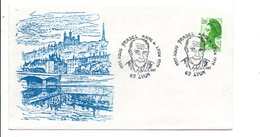 OBLITERATION JOURNEE DU SOUVENIR LOUIS PRADEL MAIRE DE LYON 1987 - Postmark Collection (Covers)