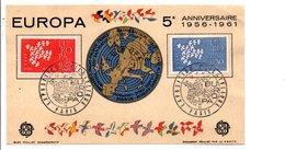 OBLITERATION EXPO PHILA. EUROPA PARIS 1961 - Commemorative Postmarks