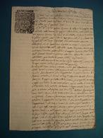 1792  ATTO NOTARILE MANOSCRITTO CON BOLLO DELL'ECCELLENTISSIMA CAMERA DI SOLDI 5 - Manoscritti