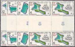 Kiribati,  Scott 2014 # 369-372,  Issued 1981,  Set Of 4 Blocks Of 4,  MNH,  Cat $ 4.80,  Ships - Kiribati (1979-...)