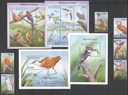 J878 DU CONGO FAUNA BIRDS OISEAUX DU CONGO MICHEL 122 EURO !!! 2KB+2BL+1SET MNH - Oiseaux