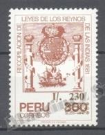 Peru / Perou 1988 Yvert 895, Laws Of 1681 - MNH - Perú