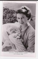 AK98 Royalty - Her Royal Highness Princess Elzabeth With Princess Anne - Tuck RPPC - Royal Families