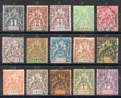 GABON - YT N° 16 à 31 (sauf 27) - Neufs * / Sg / Obl - Cote: 305,00 € - Neufs