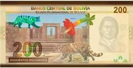 Bolivia 2019. Bs200,00 Nueva Familia De Billetes. S.Bolivar, B. Sisa, Túpac Katari. Tiahuanaco, La Kantuta Y Gato Titi - Bolivia