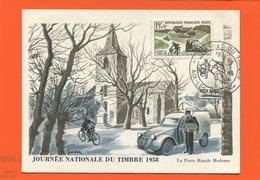 PL/24  JOURNEE NATIONALE DU TIMBRE 1958 LA POSTE RURALE MODERNE  // Timbre Poste - Gebraucht
