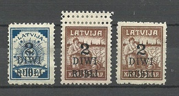 LATVIA Lettland 1920 Michel 58 - 59 (*) Incl. Doppelzähnung - Lettonie