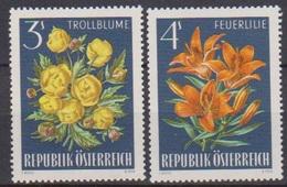 Österreich 1966 Nr.1212 - 1213  ** Postfr. Alpenflora ( 8700) Günstige Versandkosten - 1961-70 Ungebraucht
