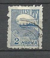 Estland Estonia 1920 Local Postmaster Perforation Postmeister Zähnung Michel 17 O - Estland