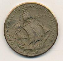 Médaille Laiton  45 Mm 37,25 Gr  HUDSON - BAIE 1670/1970   USA   VOIR SCANS - Professionnels/De Société