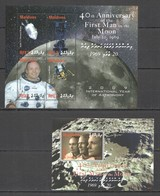 J915 2009 MALDIVES SPACE FIRST MAN ON THE MOON ARMSTRONG APOLLO 11 KB+BL MNH - Andere