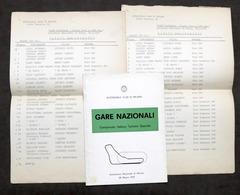 Gare Nazionali Campionato Turismo Speciale - Autodromo Monza 1976 - Regolamento - Altri