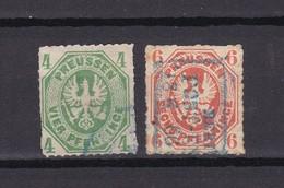 Preussen - 1861 - Michel Nr. 14/15 - Gest. - 33 Euro - Preussen
