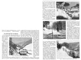 """VALLEE De L'AREUSE (VAL De TRAVERS -USINE De FURCIL- ROUTE De La CLUSETTE ) """" MONTAGNE Qui Se Decolle """"( SUISSE )  1901 - NE Neuchâtel"""