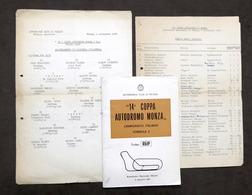 14^ Coppa Autodromo Monza - Campionato Italiano Formula 3 - 1966 - Regolamento - Altri