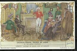 CHROMO LIEBIG . CHARLES - JOSEPH , PRINCE DE LIGNE . LE SALON VIENNOIS . - Liebig