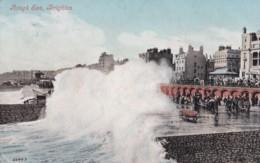 AO08 Rough Sea, Brighton - 1900's Postcard - Brighton