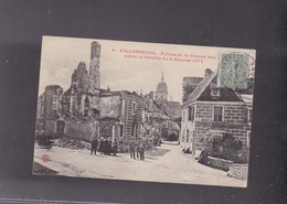 70 HAUTE SAONE , VILLERSEXEL ,Ruines De La Grande Rue Après La Bataille Du 9 Janvier 1871 - Autres Communes