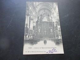 Gand, Gent,L'Interieure De L'Eglise Des Carmes Dechausses, Edit De Graeve - Gent