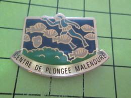 217 Pins Pin's / Rare & Belle Qualité THEME SPORTS / CENTRE DE PLONGEE MALENDURE POISSONS HOMME-GRENOUILLE - Plongée