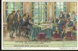 CHROMO LIEBIG . HISTOIRE DES ETATS-UNIS D'AMERIQUE . ACHAT DE LA LOUISIANE . - Liebig