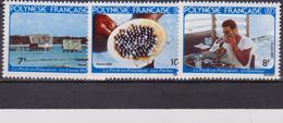 Polinesia FRANCESE 1982 Pearl Industria/Perle/Gioielli/Marine  Set MNH - Polinesia Francese