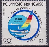 Francese Polinesia 365, Mnh. 4° World Catamarano Championships, 1982 - Polinesia Francese