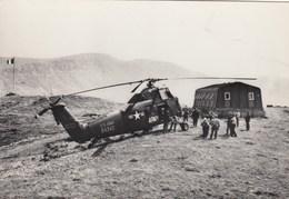 ELICOTTERO-HELICOPTER-HELICOPTERO-HUBSCHRAUBER-CARTOLINA VERA FOTO NON VIAGGIATA ANNO 1960-1965 - Elicotteri