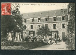 CPA - SAINT JACUT DE LA MER - L'Abbaye, Vue Intérieure, Très Animé - Saint-Jacut-de-la-Mer