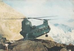 ELICOTTERO-HELICOPTER-HELICOPTERO-HUBSCHRAUBER-CH 47 C-CARTOLINA VERA FOTO VIAGGIATA IL 191-1979 - Hélicoptères
