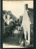 CPA - SAINT JACUT DE LA MER - La Rue Principale, Animé - Saint-Jacut-de-la-Mer