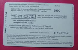 Serie B-59-0...9, German Army In Kosovo Prepaid Phone CARD 10 Euro Used Operator KBIMPULS *Satellite* - Kosovo