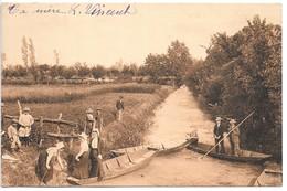 Cpa...VIX ..(vendée)...paysage Du Marais...(embarcations..promenade En Chalands)..animée..1941.. - France
