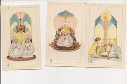 Image Pieuse  Ou Religieuse -    3 Images Enfantines - Devotion Images