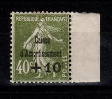 YV 275 N* (tres Légère) Caisse D'Amortissement Cote 60 Eur - Unused Stamps
