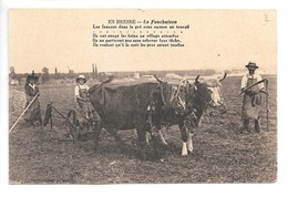 Cpa...en Bresse....la Fauchaison....(attelage De Deux Boeufs)...animée....(cachet Militaire).. - Attelages