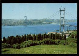 C1677 TURKEY - ISTANBUL VE GUZELLIKLERI - BOGAZ KOPRUSU VE CEVRE YOLUNUN BEYLERBEYINDEN GORUNUSU 1977 - Turchia