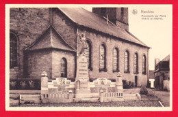 E-Belgique-127PH34 HARCHIES  Les Monuments Aux Morts 1914-1918 Et 1940-1945, Cpa BE - België