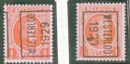 OCB N° 190 / OCVB N°  4543    WESTERLOO 1929  A B - Roulettes 1920-29