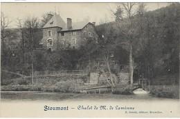CPA -  Stoumont - Chalet De M.de Laminne   - Allemande Feldpost  1914 - Zonder Classificatie