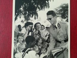 VOYAGE ROYAL AU CONGO - BELGE ROI BAUDOUIN UNE CARTE - PHOTO  CARTE POSTALE COLONIE BELGIQUE BELGIUM - Familles Royales