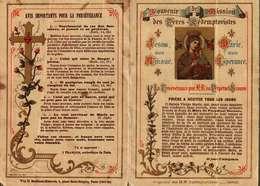 Image Pieuse  Ou Religieuse  Double - Souvenir De Mission Des Pères Rédemptoristes - Devotion Images